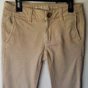 American Eagle Jeggings Khaki Pants